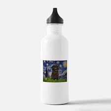 Starry Night / Affenpinscher Water Bottle