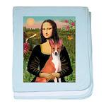 Mona Lisa - Basenji baby blanket