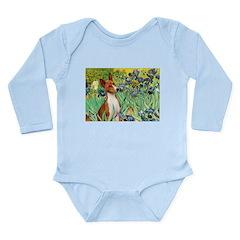 Basenji in Irises Long Sleeve Infant Bodysuit