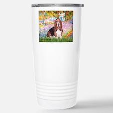 Basset in the Garden Travel Mug