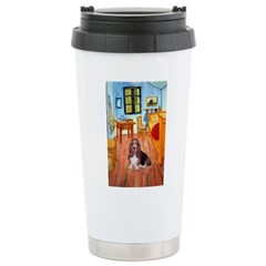 Room with a Basset Stainless Steel Travel Mug