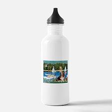 Sailboats & Basset Water Bottle