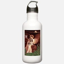 Seated Angel & Basset Water Bottle