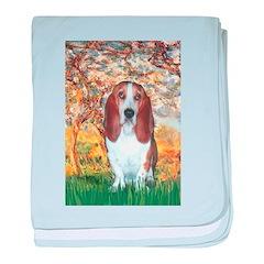 Monet's Spring & Basset baby blanket