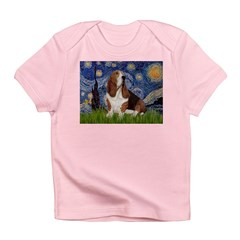 Starry Night & Basset Infant T-Shirt