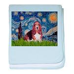 Starry / Basset Hound baby blanket
