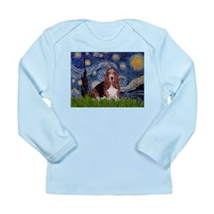 Starry / Basset Hound Long Sleeve Infant T-Shirt