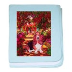 The Path & Basset baby blanket