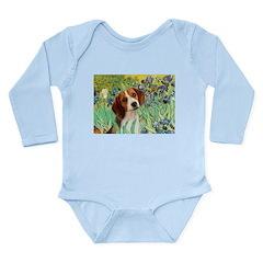 Irises & Beagle Long Sleeve Infant Bodysuit