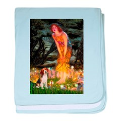 Fairies and Beagle baby blanket
