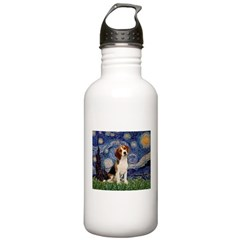 Starry Night / Beagle Water Bottle