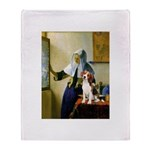 Woman w/Pitcher - Beagle Throw Blanket