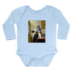 Woman w/Pitcher - Beagle Long Sleeve Infant Bodysu