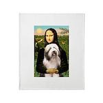 Mona / Bearded Collie #1 Throw Blanket