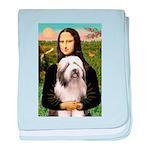 Mona / Bearded Collie #1 baby blanket