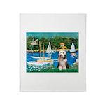 Sailboats / Beardie #1 Throw Blanket