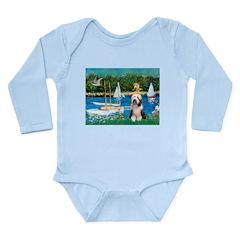 Sailboats / Beardie #1 Long Sleeve Infant Bodysuit