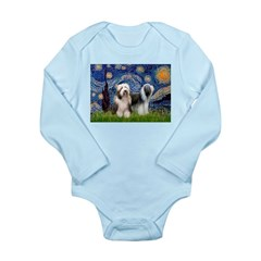 Starry / 2 Bearded Collies Long Sleeve Infant Body
