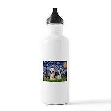 Starry / 2 Bearded Collies Water Bottle