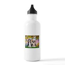 Garden / 2 Bearded Collie Water Bottle