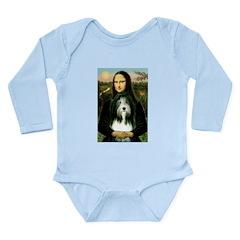 Mona / Bearded Collie Long Sleeve Infant Bodysuit