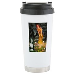 Fairies / Bearded Collie Travel Mug
