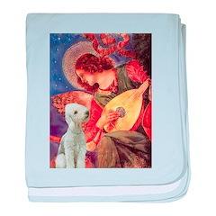 Angel / Bedlington T baby blanket