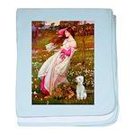 Windflowers/Bedlington T baby blanket