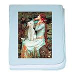 Ophelia / Bedlington T baby blanket