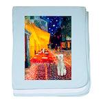 Cafe / Bedlington T baby blanket