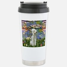 Lilies / Bedlington T Stainless Steel Travel Mug