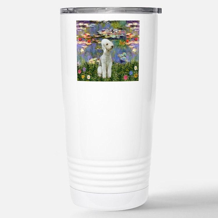 Lilies / Bedlington T Travel Mug