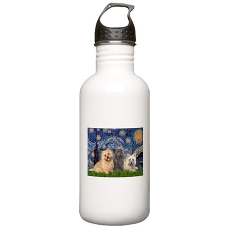 Starry/3 Cairn Terriers Stainless Water Bottle 1.0