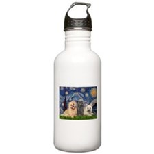 Starry/3 Cairn Terriers Water Bottle
