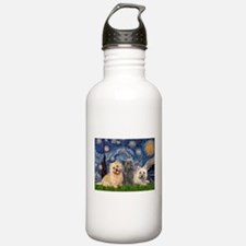 Starry/3 Cairn Terriers Water Bottle