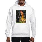 Fairies /Belgian Sheepdog Hooded Sweatshirt