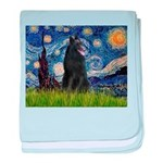 Starry Night /Belgian Sheepdog baby blanket