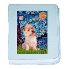 Starry Night / Cairn Terrier baby blanket