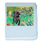 Irises / Cairn (#17) baby blanket