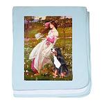 Windflowers & Bernese baby blanket