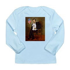 Lincoln & his Bichon Long Sleeve Infant T-Shirt