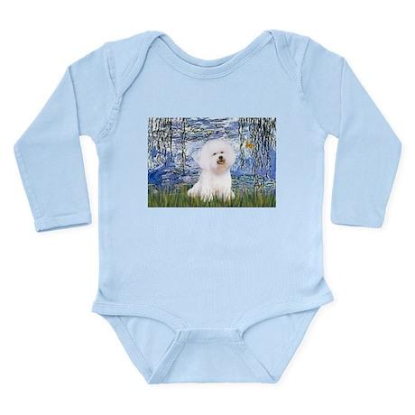 Lilies (6) & Bichon Long Sleeve Infant Bodysuit