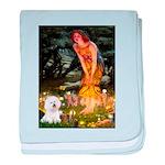 Fairies & Bichon baby blanket