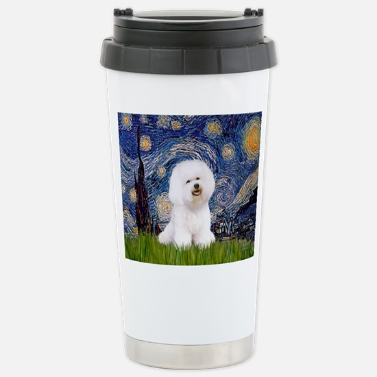 Starry Night Bichon Stainless Steel Travel Mug