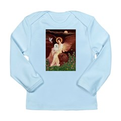 Seated Angel & Bolognese Long Sleeve Infant T-Shir