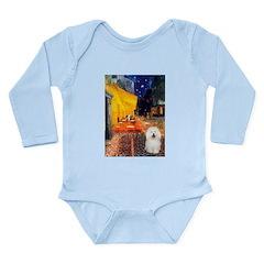Cafe & Bolognese Long Sleeve Infant Bodysuit