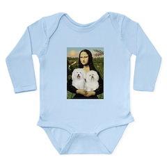 Mona's 2 Bolognese Long Sleeve Infant Bodysuit