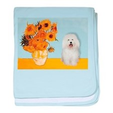 Sunflowers & Bolognese baby blanket