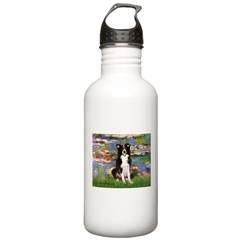 Lilies & Border Collie Water Bottle