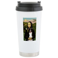 Mona & Border Collie Travel Mug